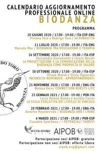 LOCANDINA AGGIORNAMENTO PROFESSIONALE AIPOB 2020/21